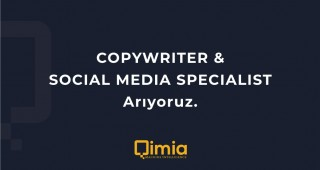 COPYWRITER & SOCIAL MEDIA SPECIALIST Arıyoruz!
