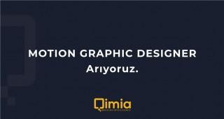 MOTION GRAPHIC DESIGNER ARIYORUZ!
