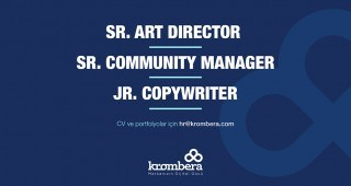 SR. ART DIRECTOR, SR. COMMUNITY MANAGER VE JR. COPYWRITER ARIYORUZ!