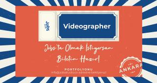 Jobs Studio Videographer Arıyor!