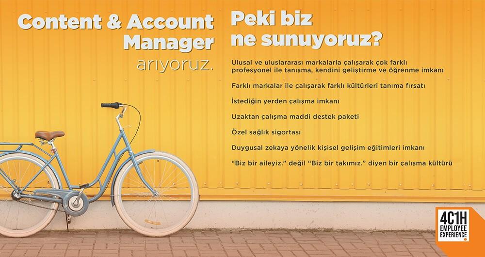 CONTENT & ACCOUNT MANAGER ARIYORUZ!