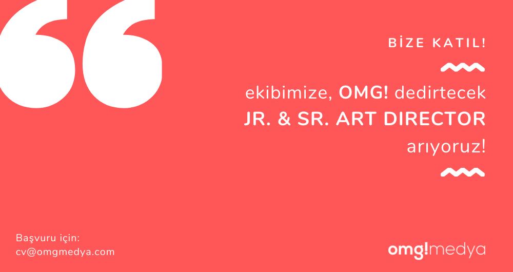 Jr. & Sr. Art Director arıyoruz!