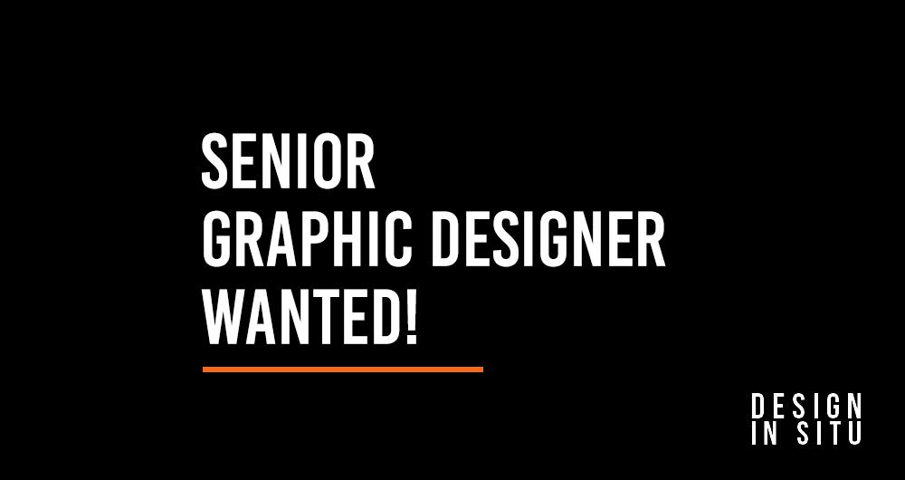 Senior Graphic Designer Wanted!