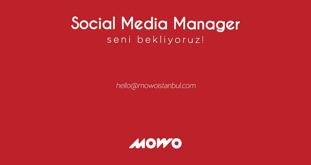 Social Media Manager Aranıyor...