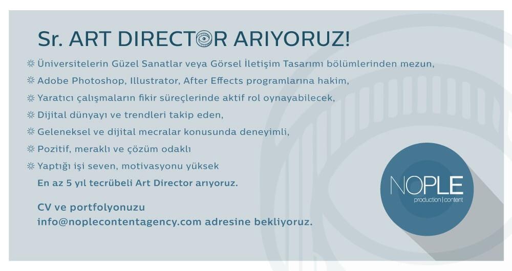 Sr. ART DIRECTOR ARIYORUZ!