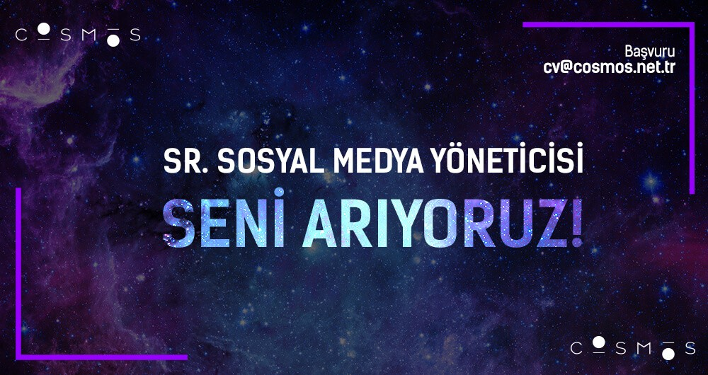 Sr. Sosyal Medya Yöneticisi Seni Arıyoruz!